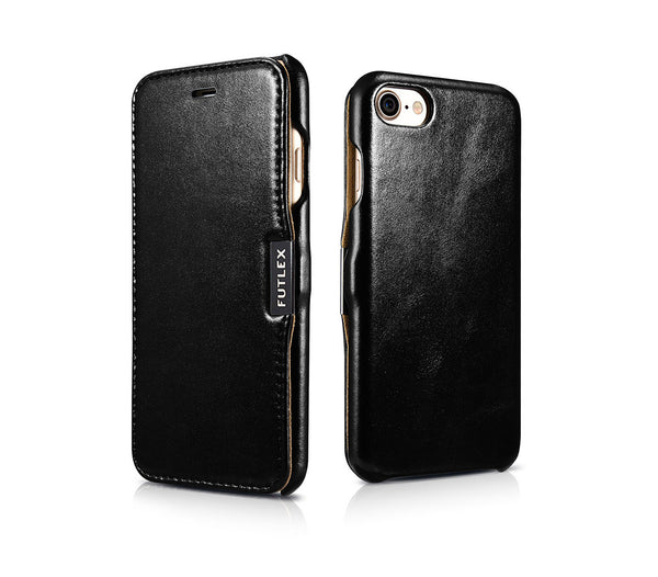 Vintage Leather Magnet Folio Case iPhone SE (2020) / 8 / 7 - Black