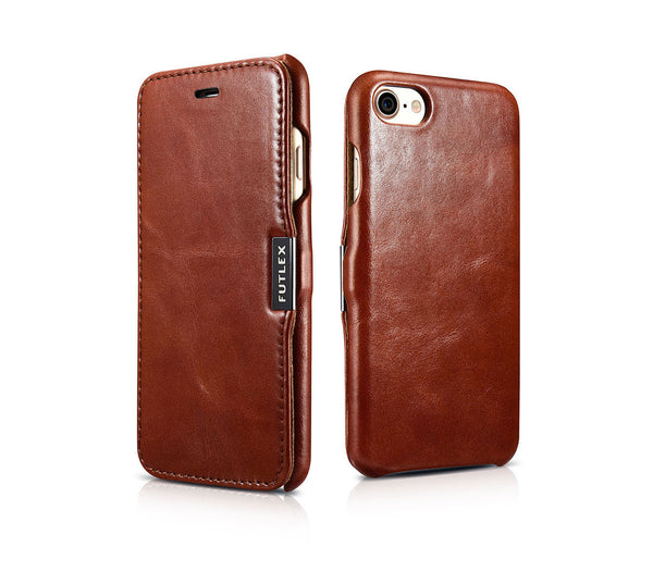 Vintage Leather Magnet Folio Case iPhone SE (2020) / 8 / 7 - Brown