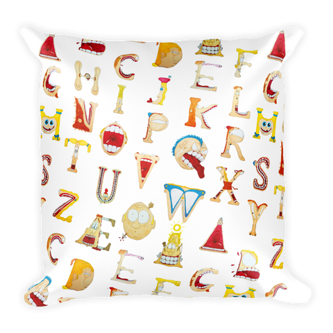 TypeFace ABC Pillow