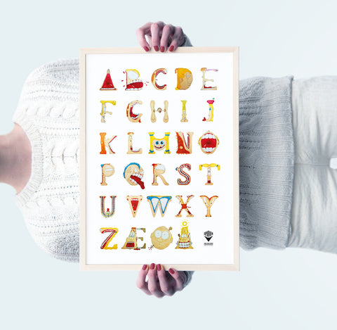 TypeFace poster in colors (A3)