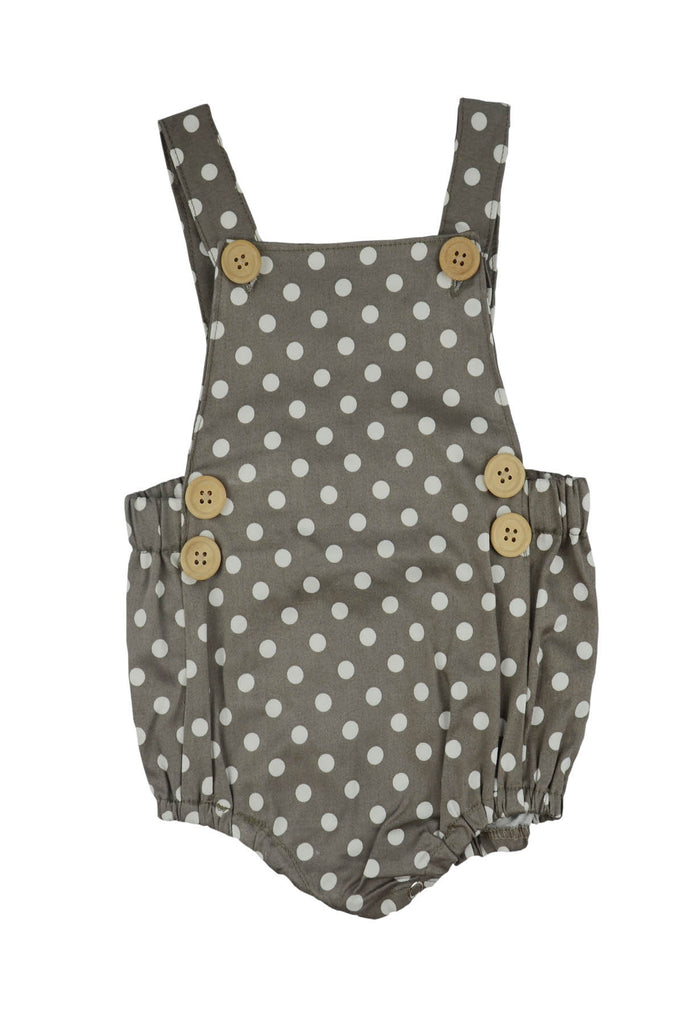 Romper: Grey Dot