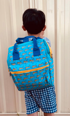 Backpack -Blue Leopard