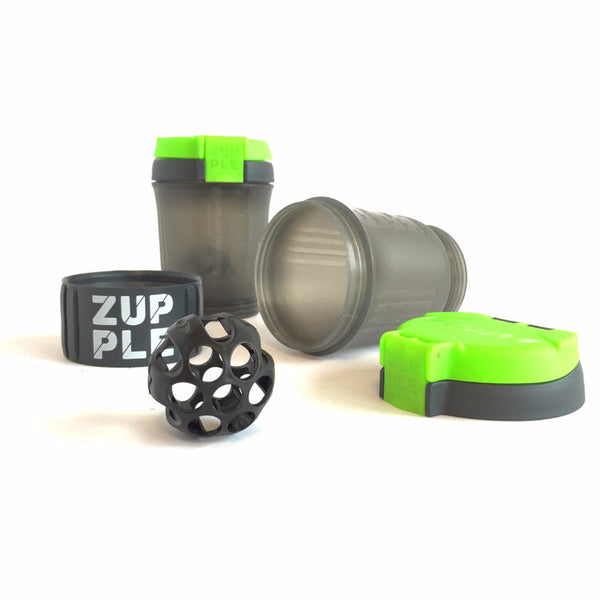 green modular shaker bottle