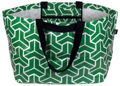 Carry-All: Heritage Green Giant Tote Bag Large Beach Bag