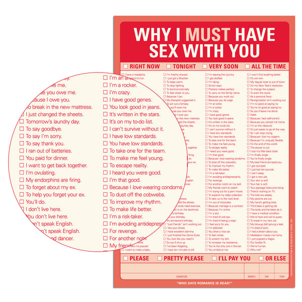 Notepad - Why I Must Have Sex with You