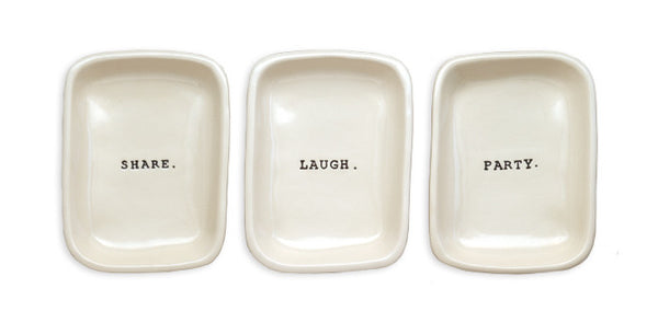Word App Dishes, Set of 3