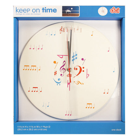 Clock - Music Notes