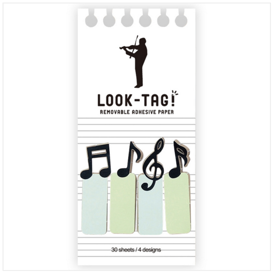 Look Tag! Removable Adhesive Paper - Music