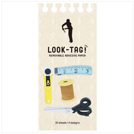 Look Tag! Removable Adhesive Paper - Sewing