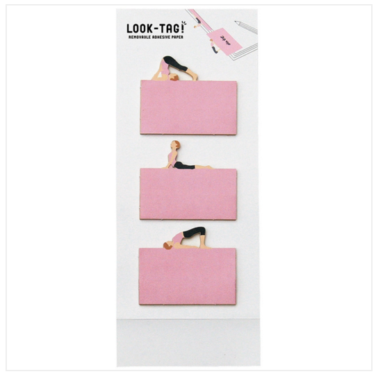 Look Tag! Removable Adhesive Paper - Yoga