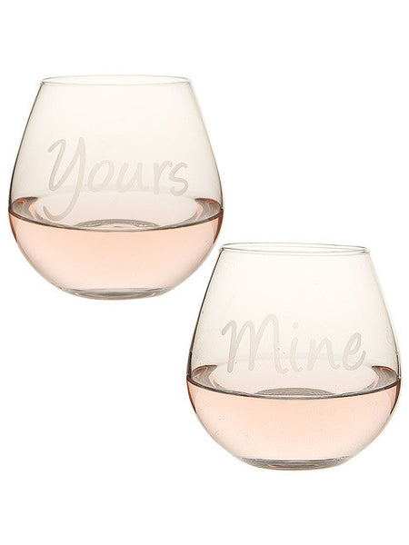 Yours/Mine Stemless Wine