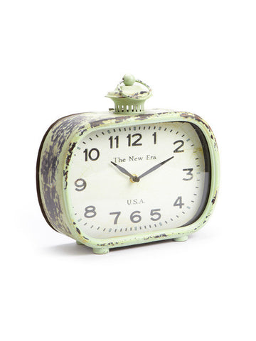 Clock - Green Low Rectangle