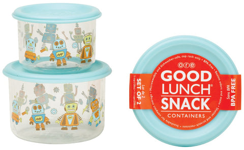 Good Lunch Container Set/2 Retro Robot