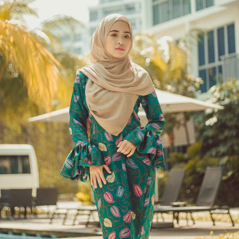 Green Qistina Batik Dress (L size)