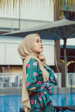 Green Qistina Batik Dress
