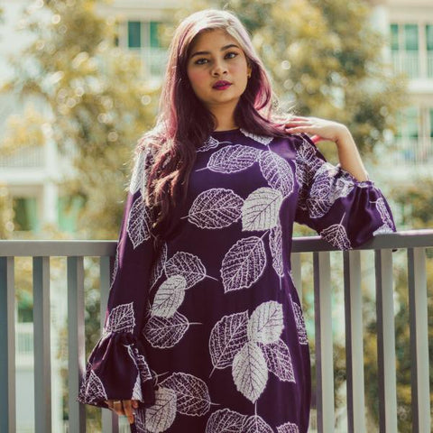 Batik Mermaid in Purple Maisara