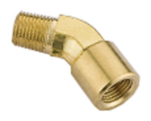 Equal Male BSPT x Female BSPP 45° Elbow, Brass