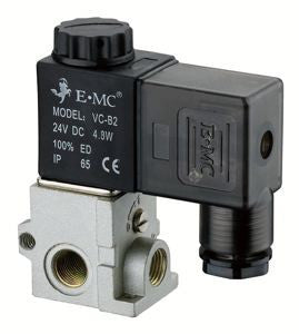 "E.MC, Single Solenoid Valve, 24V DC, 1/8"" BSP"