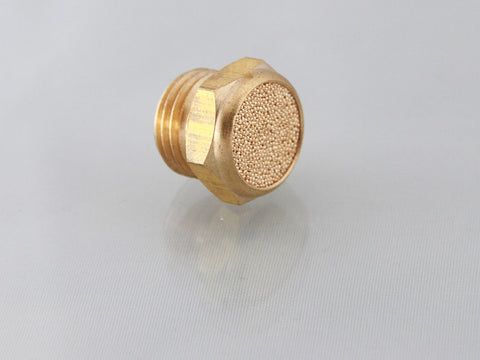 Brass Silencer, Male Thread, BSPP