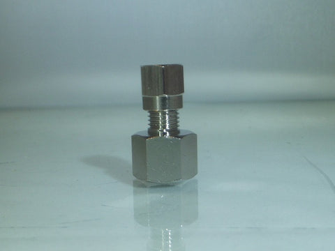 Female Compression Studs, BSPP - Nickel Plated Brass