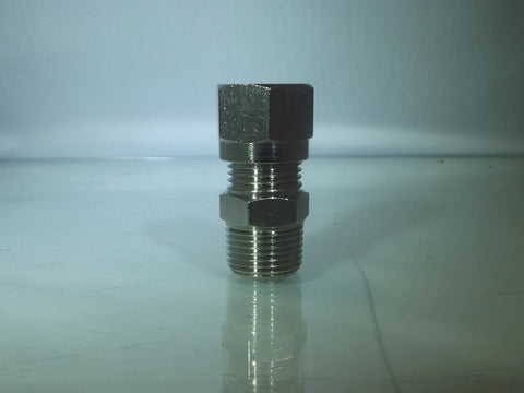 Male Compression Stud, BSPT - Nickel Plated Brass