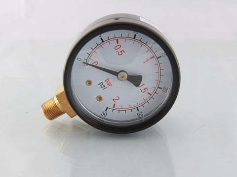 Pressure Gauges, Bottom Connection, BSPT, Male Thread - 50mm Dia