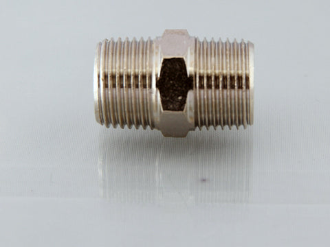 Equal Male Adaptor - Nickel Plated Brass