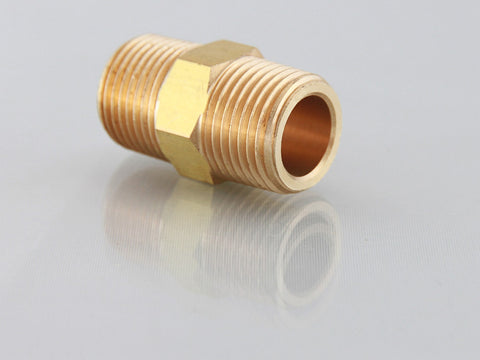 Male NPT Equal Nipple, Brass