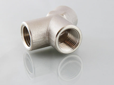 Equal Female Y Connector - Nickel Plated Brass, BSPP