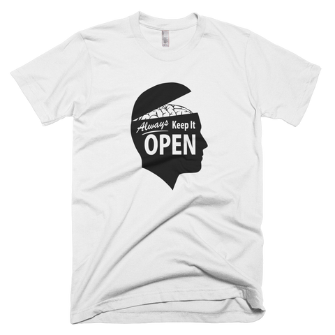 Always Keep It OPEN shirt (White)