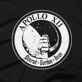 NASA T-Shirt - Apollo 12 Lunar Landing Patch graphic tee (Close-Up)