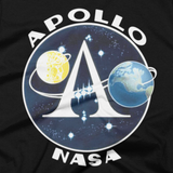 Apollo Space Program insignia t shirt (Close-Up)