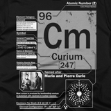 Curium t shirt (close-up)