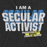 I AM A SECULAR ACTIVIST t-shirt image