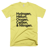 Ingredients for the Universe t shirt