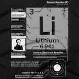 Lithium t shirt close-up