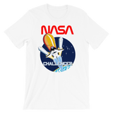 NASA T-Shirt - STS-8 Mission Inspired | Space Shuttle Challenger graphic white tee