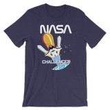 NASA T-Shirt - STS-8 Mission Inspired | Space Shuttle Challenger graphic navy tee