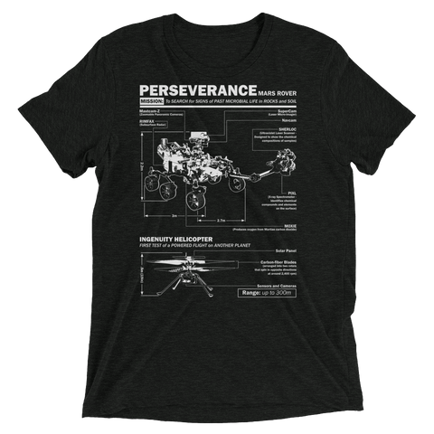 Perseverance Mars Rover and Ingenuity Helicopter tee shirt