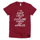 STAR TREK t shirt - Keep Calm and Explore Strange New Worlds (TNG)