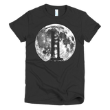 Saturn V Rocket Silhouette and Moon graphic tee