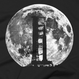 Saturn V Rocket Silhouette and Moon graphic tee image