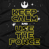 STAR WARS t-shirt - Keep Calm and Use the Force (Close-Up)