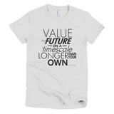 Richard Dawkins - Value the Future shirt women's (White)