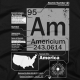 Americium t shirt close-up