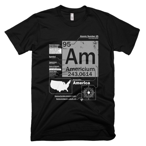 Americium t shirt (Black)