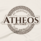 Atheos App T-Shirt close-up