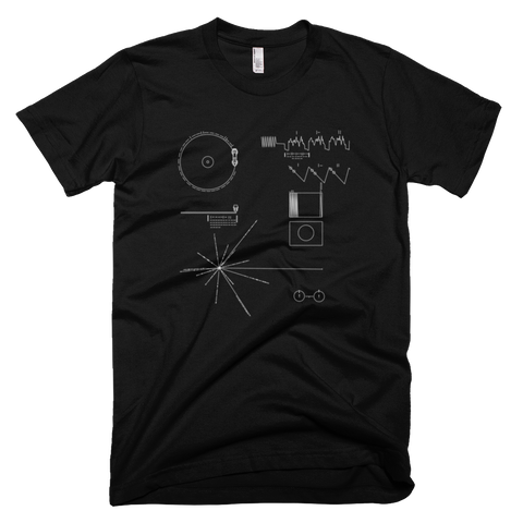 Voyager Golden Record t shirt (Black)