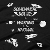 Carl Sagan - Something Incredible shirt close-up