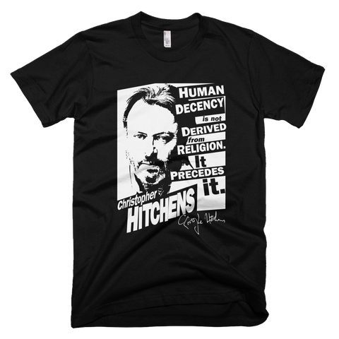 Christopher Hitchens - Human Decency t shirt (Black)